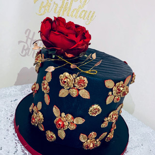 Black and Gold Cake.