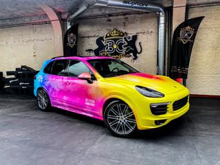 Ankatrien Porsche Cayenne - Custom Glitter carwrap