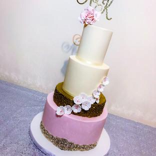 Glitter & Sequins Wedding Cake.