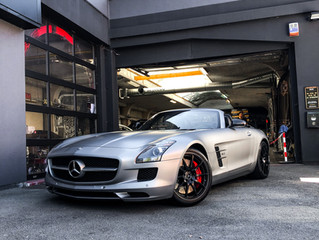 Mercedes SLS AMG Roadster volledig beschermd with XPEL STEALTH PPF Wrap