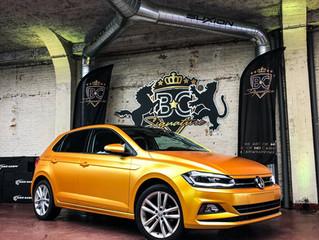 VW Polo Avery Energetic Yellow car wrap