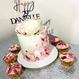 Textured Buttercream Cake.