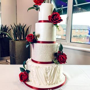 Ruffle Wedding Cake.