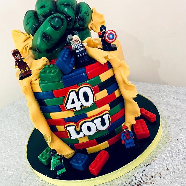 Lego Avengers Cake.