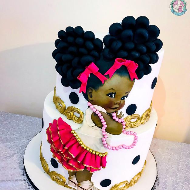 Afro Puff Cake.