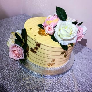 Engagement Buttercream Cake.