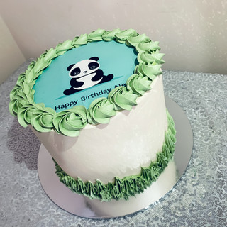 Panda Buttercream cake.