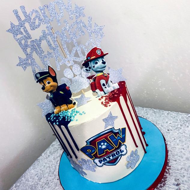 Paw Patrol Drip Cake.