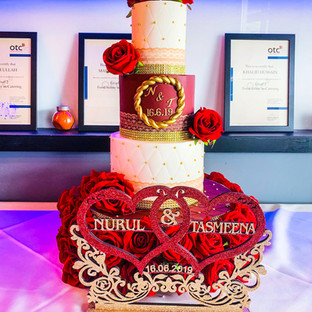 3 Tier Budget Wedding Cake.