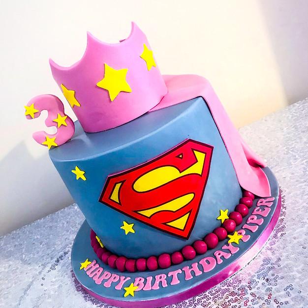 Supergirl Cake.