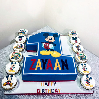 Mickey Mouse Number Cake.