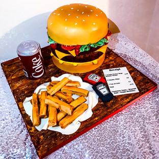 Burger Cake.