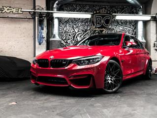 BMW M3 IMOLA RED volledig beschermd met XPEL lakbescherming