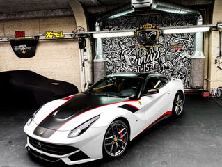 Ferrari F12 - Gold White Sparkle wrap - Ex-Gumball 3000 car!
