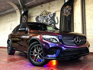 Mercedes GLC coupé - Car Wrap Avery Color flow Roaring Thunder