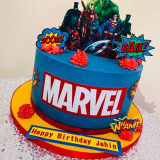 Buttercream Superhero cake.
