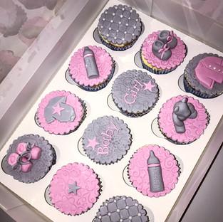 Baby Girl Cupcakes.