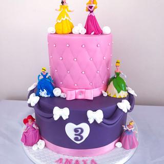 2 Tier Princess Cake.