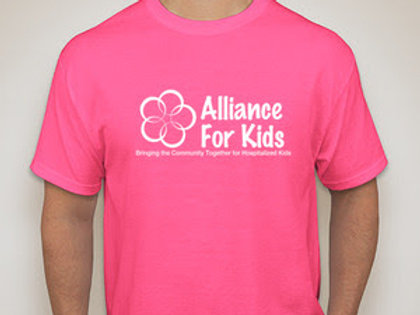 Alliance For Kids Hot Pink T- cotton-poly blend