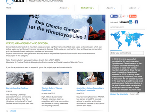 """""""Sustain Baltoro"""" Cleanup Expeditions showcased as part of The UIAA Mountain Protection Award(MPA)"""