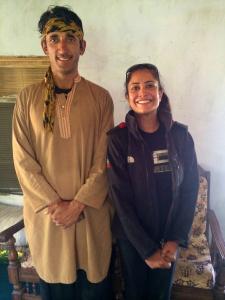 Qambar Ali and Hanniah Tariq in his home, October 2014
