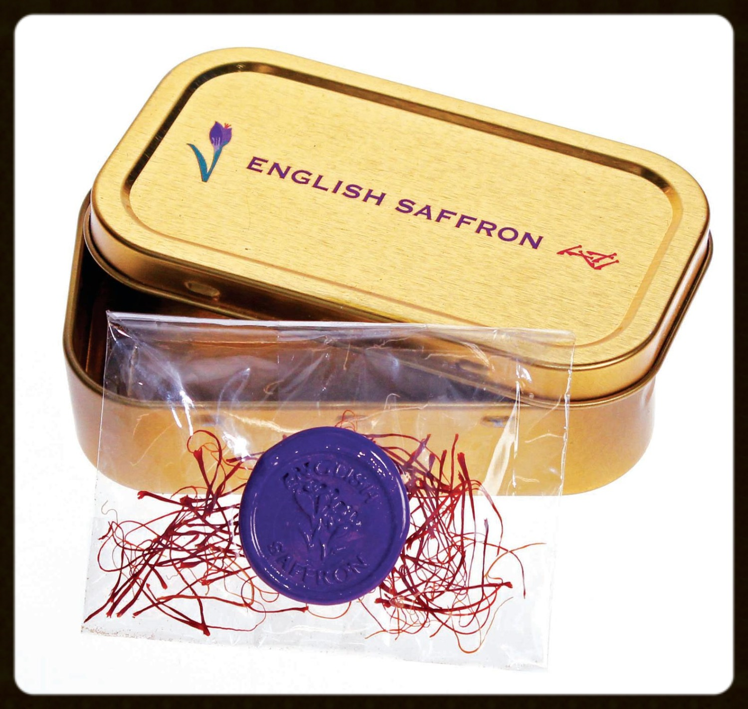 English Saffron Tin