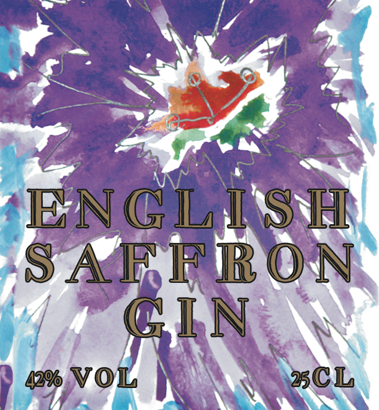 English Saffron Gin Bottle Label