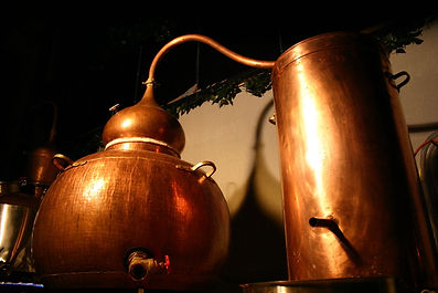 Example of Copper Pot stills to create our English Saffron Gin