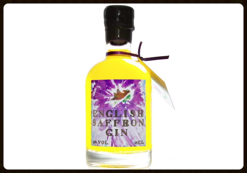 Bottle of English Saffron Gin