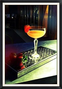 English Saffron Gin Cocktail A Dry English Summer by Gillray's Marriott Hotel County Halll