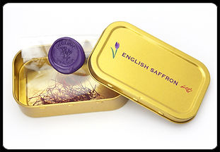 Buy Saffron - English Saffron Tin Premium luxury saffron grown in Essex and Devon