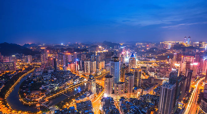 the cityscape of beautiful Guiyang where PIX Moving is based