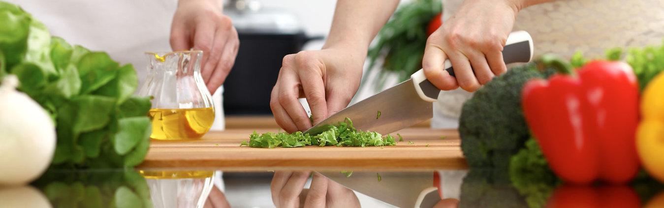 cuchillo - tabla de cortar - cocina