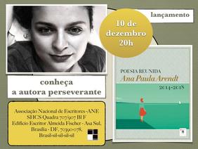 Lançamento do livro Poesia Reunida (2014-2018) em Brasília