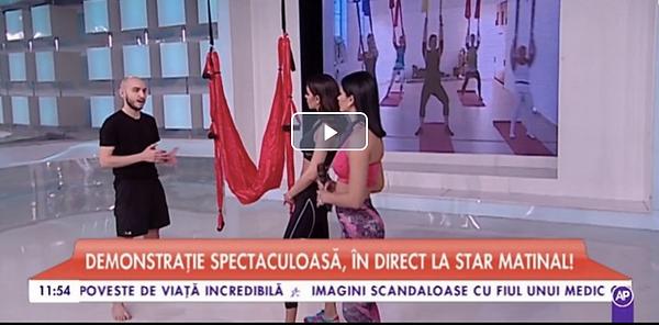 Air Yoga aparitie TV