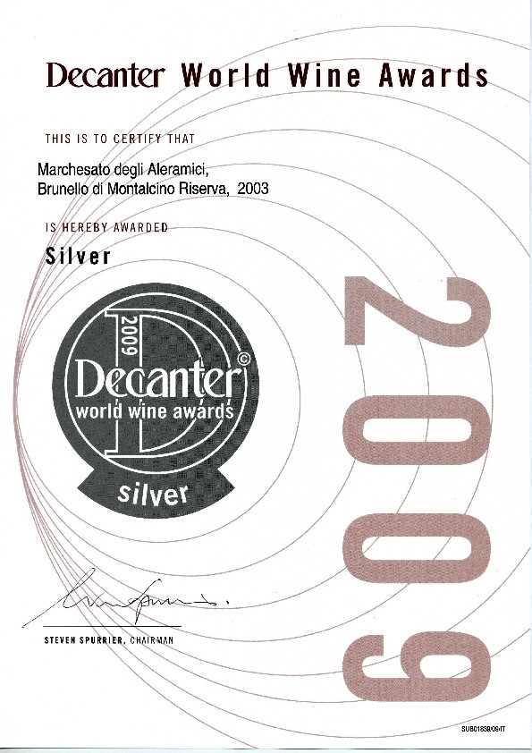 Decanter Brunello Riserva 2003