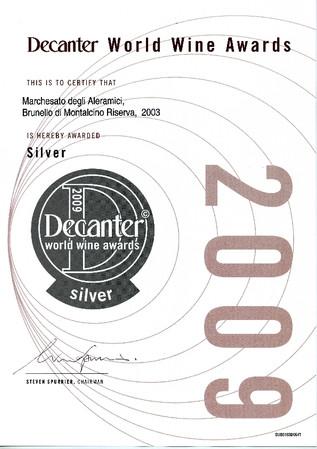 Decanter Brunello Riserva 2003