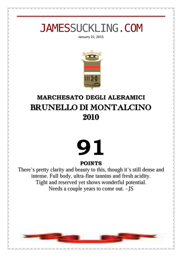 James Suckling Brunello 2010