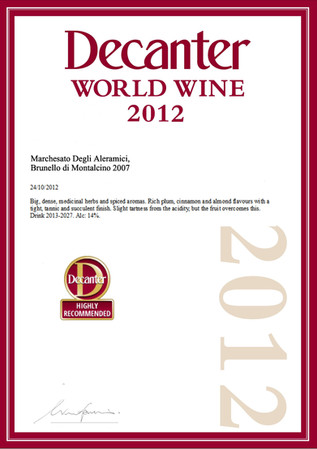 Decanter Brunello 2007 - highly recommed