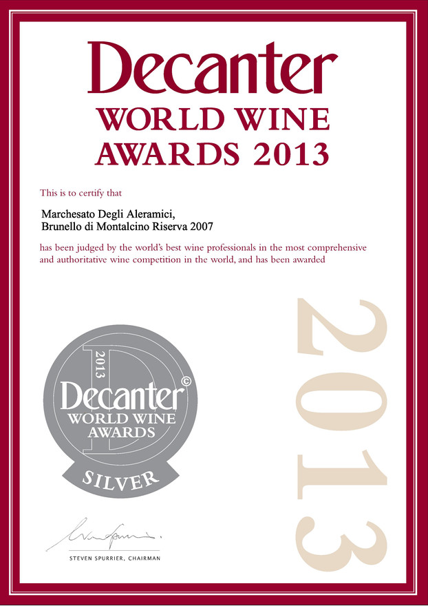 Decanter Brunello Riserva 2007