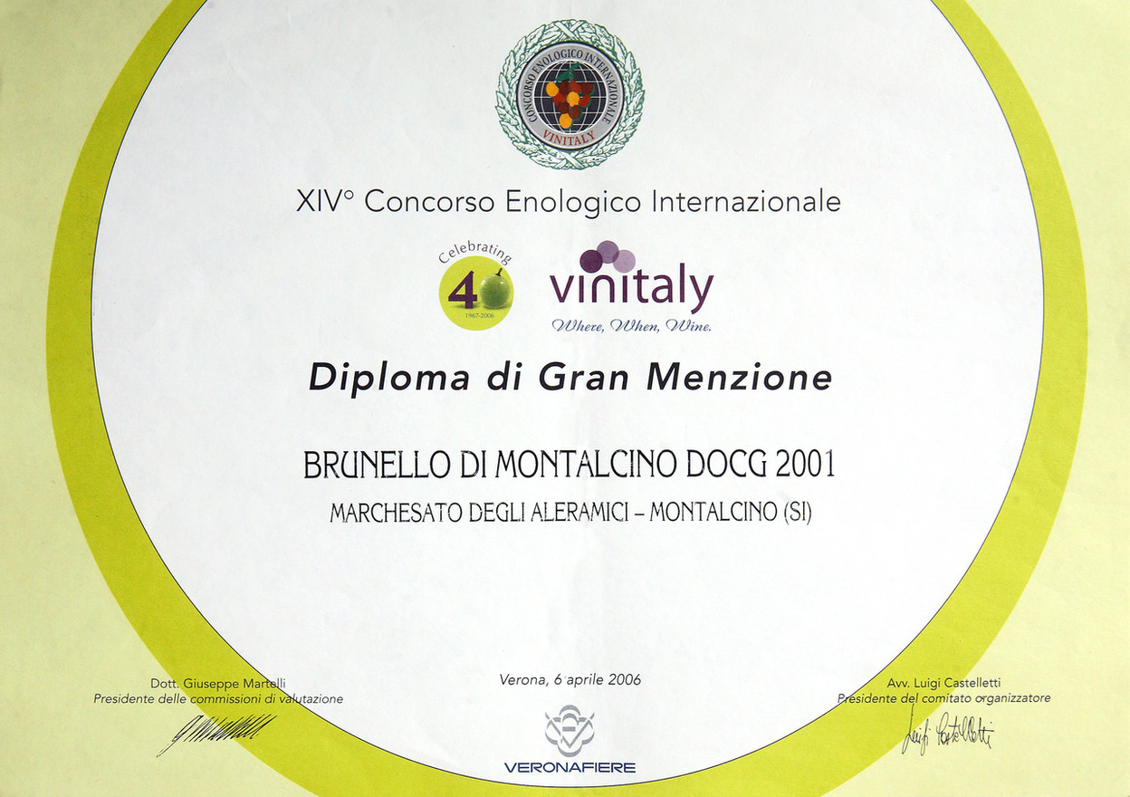 Vinitaly Brunello 2001