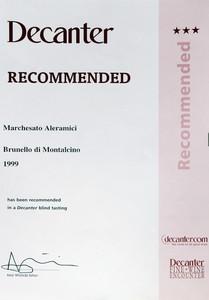 Decanter Brunello 1999