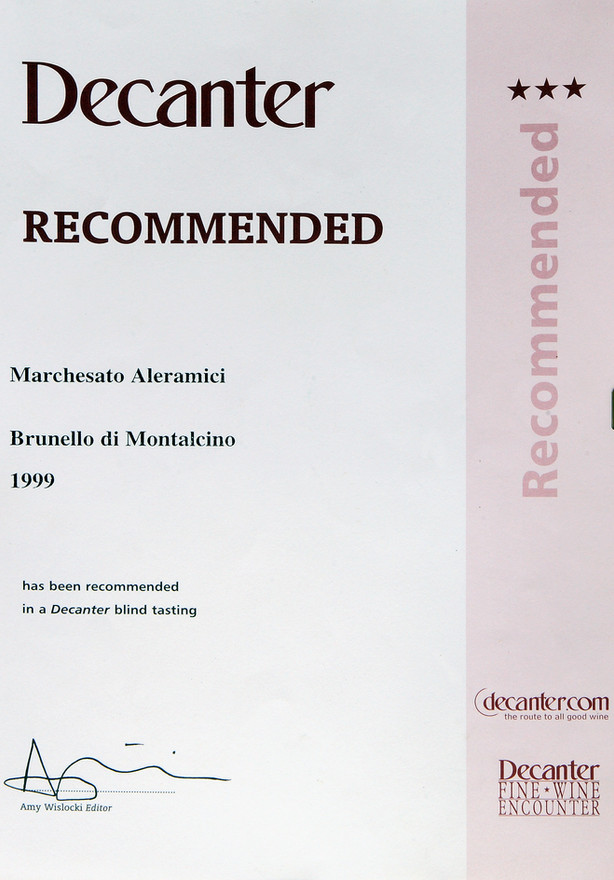 Decanter Brunello 1999
