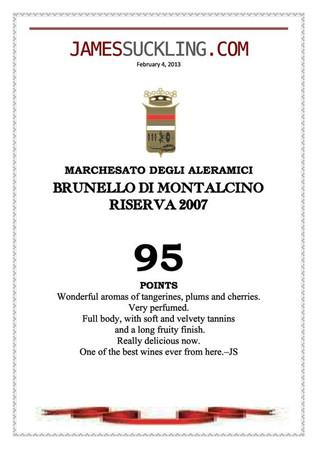 James Suckling Brunello Riserva 2007
