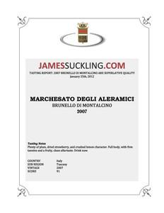 James Suckling Brunello 2007