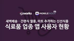 식료품 업종 앱 사용자 현황