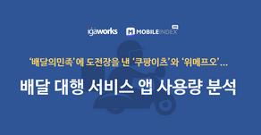 배달 대행 서비스 앱 사용량 분석