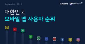 [모바일인덱스HD] HD] 대한민국 모바일 앱 사용자 순위