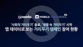 모바일인덱스HD 앱 데이터로 보는 `거리두기 캠페인` 참여 현황