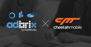 아이지에이웍스, 中 매체 '치타모바일'과 '애드브릭스 트래킹툴(Adbrix tracking tool)' 파트너십 체결